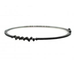 Black Diamond Asymetrical Bangle