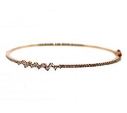 Diamond Asymmetrical Bangle