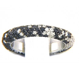 Black & White Diamond Eternity Pave Scatter Ring