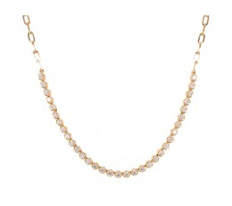 Diamond Sectional Link Chain Necklace
