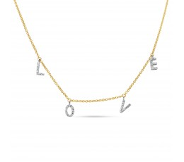 "Diamond ""LOVE"" Charm Necklace"