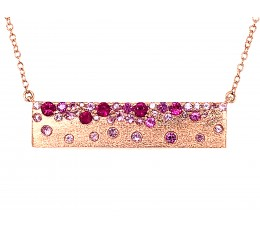 Pink Sapphire & Ruby Pendant Necklace