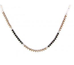 Black, Brown & White Diamond Necklace