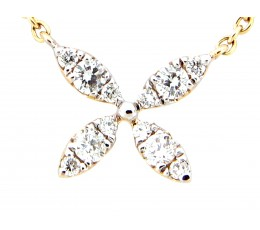Diamond Florette Pendant Necklace