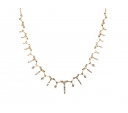 Adjustable Diamond Alternating Design Drop Necklace