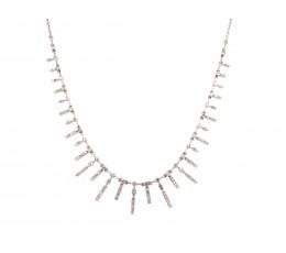 Floating Diamond Bars Adjustable Bolo Necklace