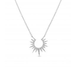 Diamond Sunburst Pendant Necklace