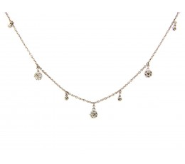 Diamond Charm Choker Necklace