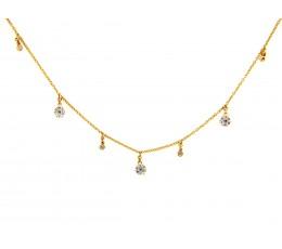 Diamond Charm Choker Necklace