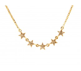 Diamond 5 Star Necklace