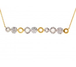 Circle Diamond Bar Necklace