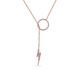 Diamond Lariat Pendant Necklace