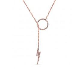 Diamond Lariat Pendant Necklace