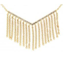 Diamond Chevron Curtain Necklace