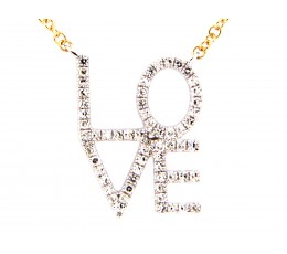 Diamond LOVE Pendant Necklace