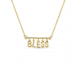 Diamond Bless Pendant Necklace