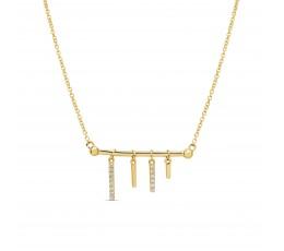 Diamond Bars Pendant Necklace