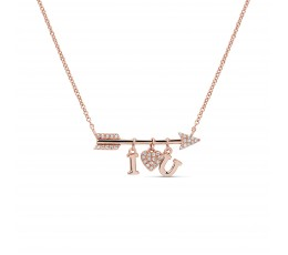 Diamond Love Note Pendant Necklace