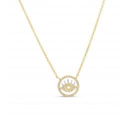 Diamond Eye Pendant Necklace