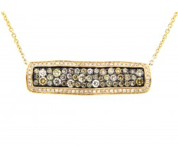 Fancy Color Diamond Pendant Necklace