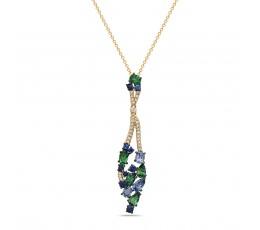 Mixed Gem & Diamond Pendant