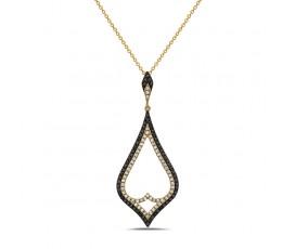 Black & White Diamond Large Pendant