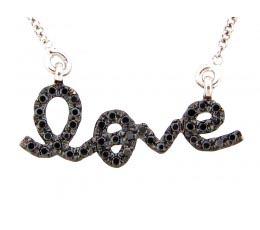 Black Diamond Love Pendant