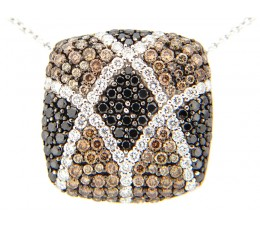 Black, Brown & White Diamond Pendant