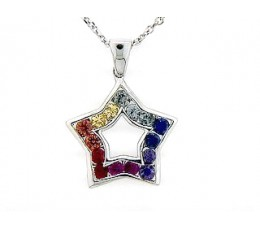 Rainbow Sapphire Pendant
