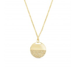 Diamond Half Disc Pendant