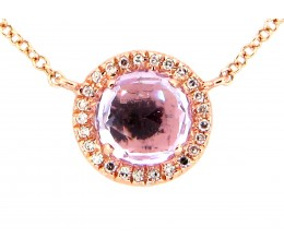 Amethyst & Diamond Pendant Necklace