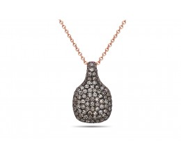 Brown Diamond Cushion Pave Pendant