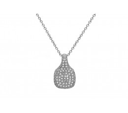 Diamond Cushion Pave Pendant