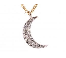 Diamond Moon Pendant