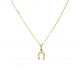 Diamond Horseshoe Charm Pendant