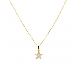 Diamond Star Charm Pendant