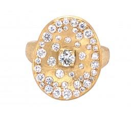 Diamond Rounds Flush Scattered Cluster Ring