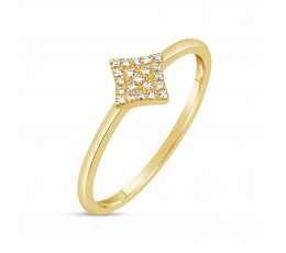 Diamond 4-Point Star Ring