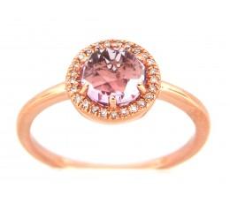 Amethys & Diamond Ring