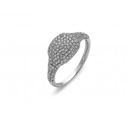 Diamond Cushion Pave Ring