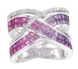 Desire - Shades of Pink & Violet Sapphire Ring