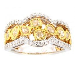 Yellow & White Diamond Ring