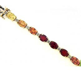 Exotic - Shades of Orange Sapphire Bracelet