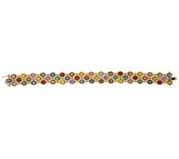 Multi-Color Sapphire & Diamond Bracelet