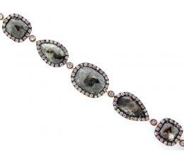 Rose Cut Slice Brown Diamond Bracelet