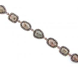 Rose Cut Slice Fancy Color Diamond Bracelet