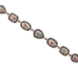 Rose Cut Slice Fancy Color Diamond Bracelet