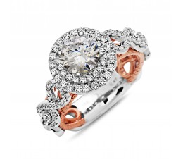 Diamond Engagement Ring Two Tone