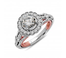 Diamond Engagement Ring Two Tone