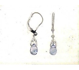 Briolette Sapphire & Diamond Earring